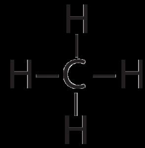 04-methane, structural formula
